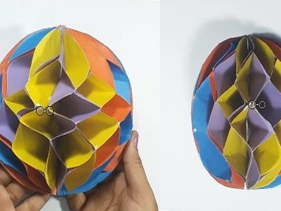 DIY Colorful Paper Honeycomb Ball !! Easy Paper Honeycomb Ball Make।।
