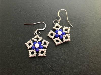 DIY Earrings.Fast and Easy to make. Beaded earrings