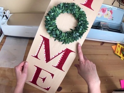 DIY Easy & Affordable Christmas Gift Series - Easy Holiday Wood Sign with HTV and Your Iron!
