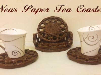 DIY - News Paper Tea Coaster   #DIY   #Newspaper   #Teatime   #Useful