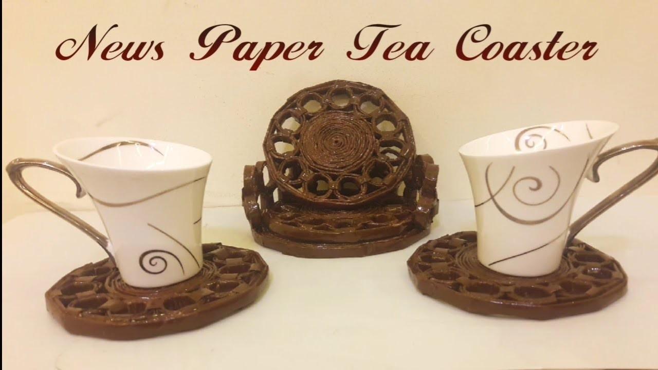DIY - News Paper Tea Coaster | #DIY | #Newspaper | #Teatime | #Useful