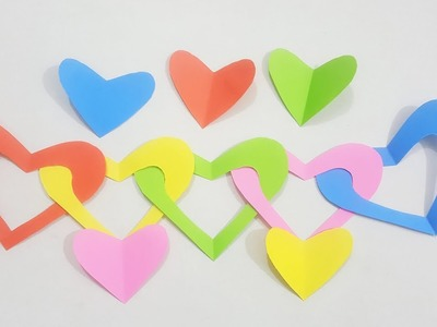 DIY Paper Craft - Paper Heart Design Valentine's Day and Room Decor Ideas.
