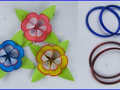DIY Paper Flower, Very Easy Flower Making from Bangles, Flower Making
