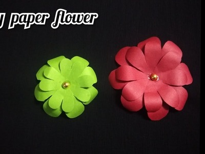 DIY Paper flower || Very simple and easy method || How to make flower using Colour paper