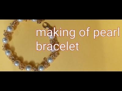 DIY simple wirework pearl bracelet