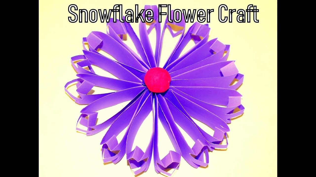 DIY Snowflake with colorfull paper|| Paper Craft||3D Schneeflocke. snowflake