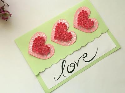 DIY Valentine's Day Card | Love Card | Pop Up heart card | Handmade Greetings Card