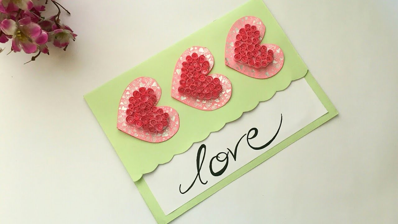 DIY Valentine's Day Card | Love Card | Pop Up heart card | Handmade Greetings Card