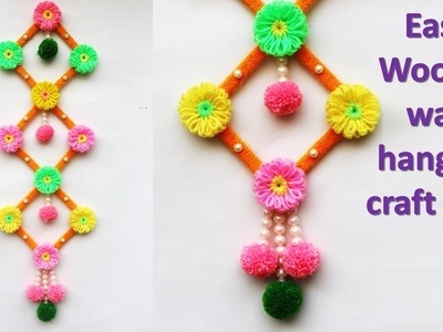 DIY Wall hanging idea out of wool || ice cream stick wall hanging idea || new craft idea
