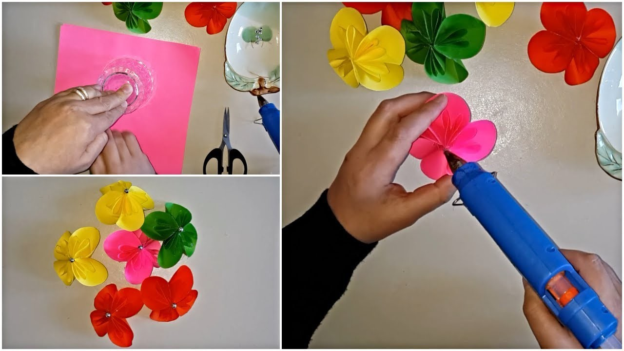 Easy and Simple Paper Flower & DIY Paper Crafts