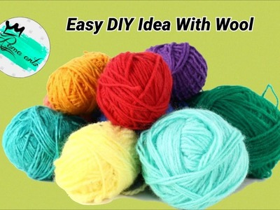 Easy DIY Idea with wool | Making wind chime home decor idea