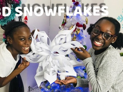 How To Make 3D Paper  Snow Flakes Decorations Easy 2018