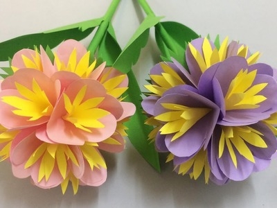 How to Make Beautiful Flower with Paper - Making Paper Flowers Step by Step - DIY Paper Flowers #18