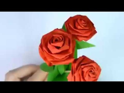 How to Make BEST Small Rose Flower with Paper | Making Paper Flowers Step by Step | DIY-Paper NEW