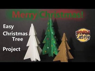 How to Make Easy Christmas Trees out of Cardboard