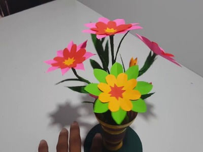 How To make Flower Paper Beautiful DIY make by son's Khmer