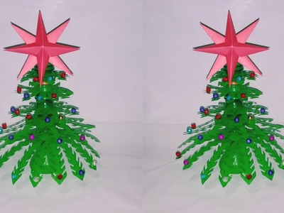How to make plastic bottles Christmas tree || Bottle Crafts & Origami-2