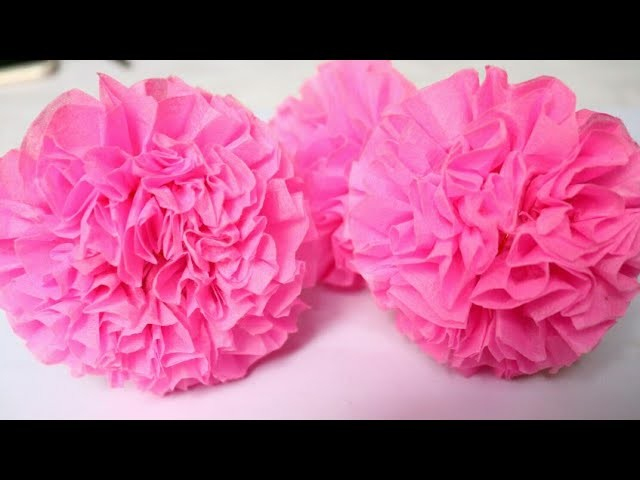 How to Make Tissue Paper Flowers | Making Flowers from Tissue Paper | Room decor ideas