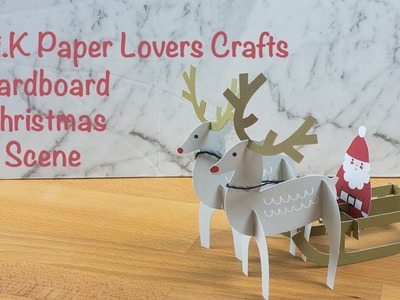 Kikki.K Paper Lovers Crafts - Cardboard Christmas Scene
