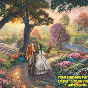 Kinkade Gone With The Wind Cross Stitch Pattern***LOOK***X***INSTANT (DOWNLOAD)***