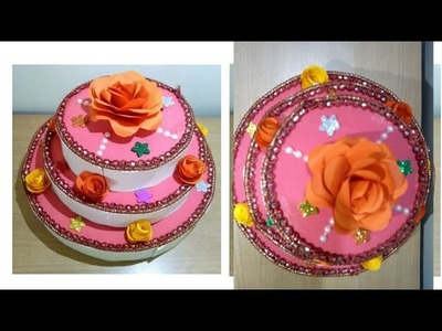 New year craft idea.How to make a paper cake. Diy New year decorations idea.