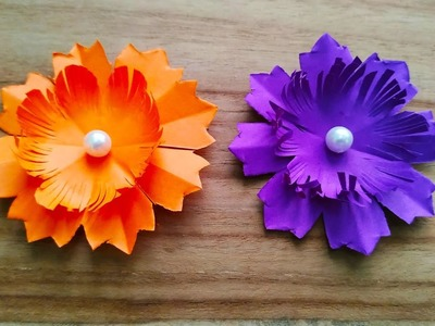Paper flower. Easy and simple paper flowers. Small paper flowers. paper flowers. diy paper flowers