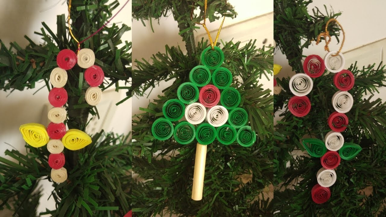 Paper Quilling Christmas Tree Ornaments Christmas Tree Decoration Ideas