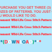 Unique Hand Made pdf Sewing Dmc Crafts Pheasant Wildlife Cross Stitch Pattern***LOOK***