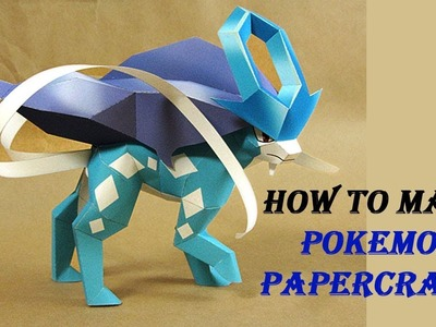 Pokemon A Paper : Suicune Papercraft From Papercraft 99