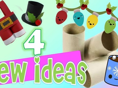 Recycled christmas crafts with tp rolls diy paper crafts easy fun decoration kids