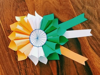 Republic Day Craft Idea | 26 January Craft| Easy Republic Day Craft | Indian Flag Badge