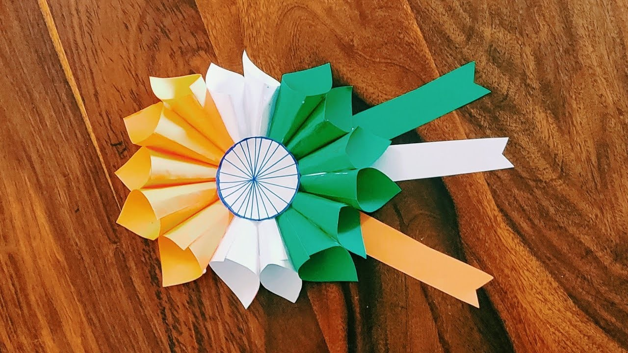 Craft For Flag Of India: Republic Day Craft Idea, 26 January Craft