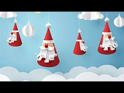 Simple and easy Santa clause | best Christmas decorations idea | paper Santa ???? clause