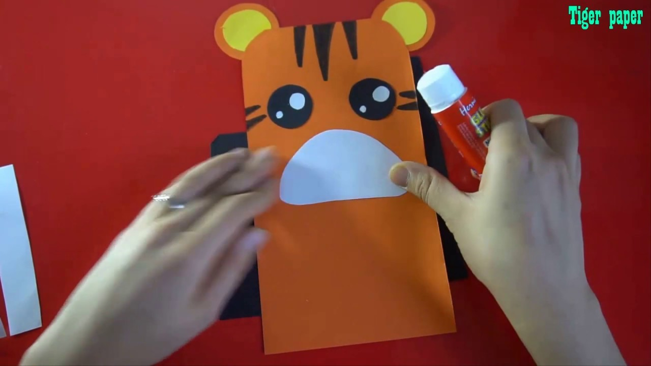 Tiger Art Activities For Kids || How To Make Tiger  For Kids