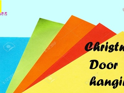 Very Easy Diy Door hanger   Paper crft ideas for room decoration   Christmas decoration ideas