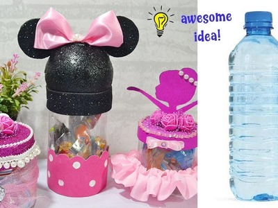Waste Plastic bottle craft idea| How to recycle plastic bottle craft