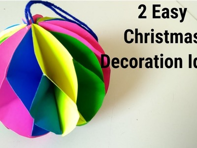 2 Very Easy Christmas Decoration Ideas. DIY Room Decor Ideas