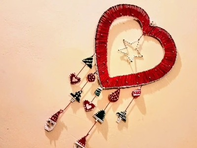 3 DIY.WALL DECORATIONS IDEAS#CHRISTMAS WALL HANGING# WALL  HANGING SHOWPIECE WITH WASTE MATERIAL.