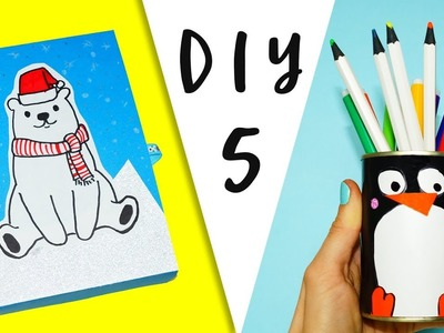 5 DIY school supplies | Easy diy paper crafts idea | Paper crafts for school