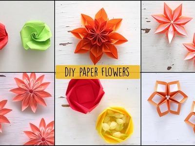 6 Easy Paper Flowers | Flower Making | DIY