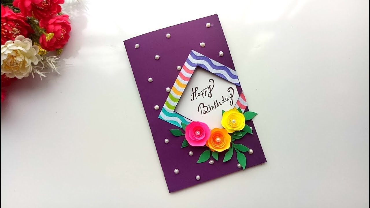 beautiful handmade birthday card idea diy greeting pop up