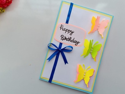 Beautiful Handmade Birthday card idea. DIY Greeting  Cards for Birthday.