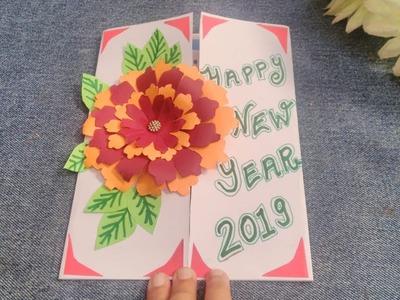 Beautiful Handmade Card I Happy New Year 2019 I DIY Greeting Card New Year 2019