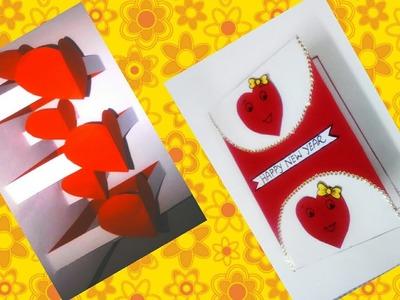 Beautiful handmade greeting cards | Valentine greeting card | Diy Easy pop up card