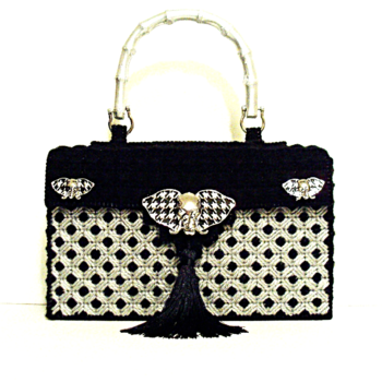 Black and Sliver Exotic Handbag