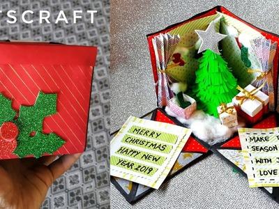 Christmas Explosion Box   Christmas DIY   #ChristmasGifts #Christmas2018 #Christmas