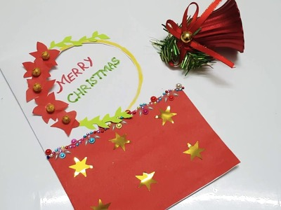 Christmas hand made card decor DIY simple and easy fun for kids.