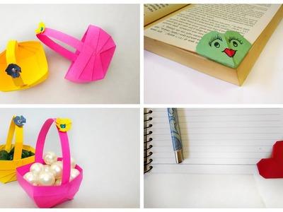 Cute DIY |Easy mini basket and Cute Heart shape Bookmark |Cute paperCraft by Kalakar Supriya