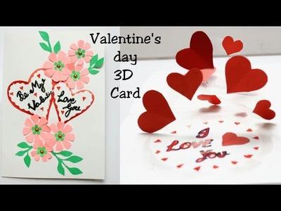 DIY 3D Heart Pop Up Card | Handmade Valentine Pop Up Card | Beautiful Valentine Day Card Ideas