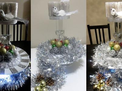 DIY BLING DOLLAR STORE HOLIDAY CENTERPIECE, DIY CHRISTMAS DECOR